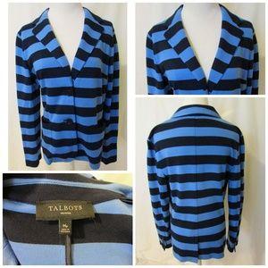 TALBOTS  Blazer Jacket Women's Size M Petite Blue